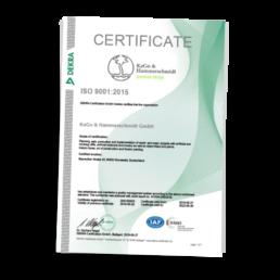 KAGO DEKRA zertifikate EN 2019