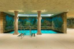 Wasserpark suntago Wandmalerei, Deckenmalerei, Illusionsmalerei und Kunstfelsen